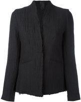 Thom Krom - creased blazer - women - Cotton/Linen/Flax/Spandex/Elastane - S