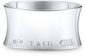 Tiffany & Co. 1837TM wide ring in sterling silver