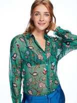 Scotch & Soda Sheer Floral Shirt