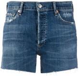 Citizens of Humanity frayed-hem denim shorts