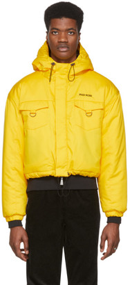 Pyer Moss Yellow Cropped Puffer Jacket