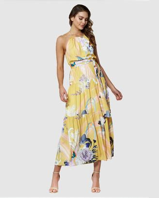 Amelius Gold Rush Maxi Dress