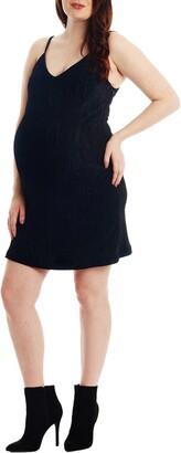 Everly Grey Aurora Plisse Maternity/Nursing Dress