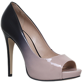 Carvela Alberta Peep Toe Stiletto Sandals, Nude Comb