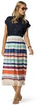 Tommy Hilfiger Summer Stripe Chiffon Midi Skirt