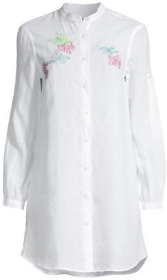 Vilebrequin Franche Mini Linen Shirtdress