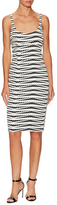 ABS by Allen Schwartz Striped Body Con Dress