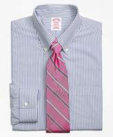 Brooks Brothers Non-Iron Madison Fit Wide Stripe Dress Shirt