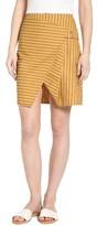 J.o.a. Women's Asymmetrical Stripe Skirt