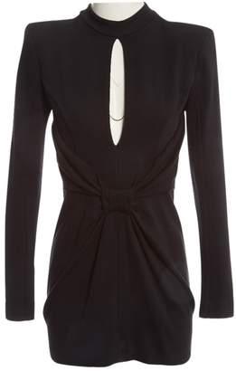 Balmain Black Wool Dress for Women