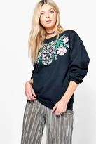 Boohoo Sassy Printed Sweatshirt