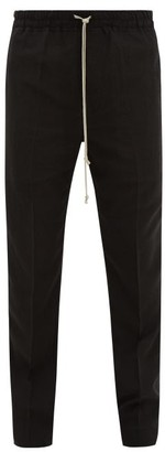Rick Owens Astaires Drawstring Wool-blend Trousers - Black