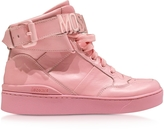 Moschino Pink Leather High Top Sneaker