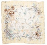 Loro Piana Silk Floral Print Scarf