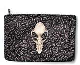 Arlette Ess Fruit Bat Skull Velvet Clutch Bag