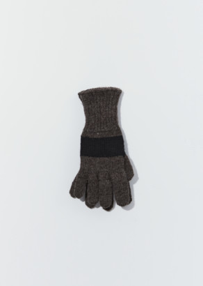 Mhl By Margaret Howell British Wool Colour Block Glove