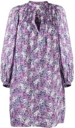 Etoile Isabel Marant Floral-Print Long-Sleeved Midi Dress