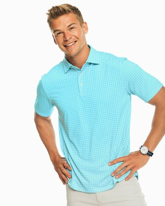 Southern Tide Gingham Driver Performance Polo Shirt