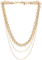 Vanessa Mooney Flora Necklace in Metallic Gold.