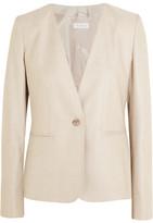 Max Mara Colonia Stretch Wool And Silk-blend Jacket - Beige