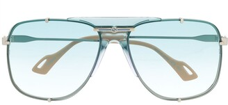 Gucci interlocking GG aviator-frame sunglasses