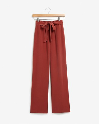 Express High Waisted Paperbag Wide Leg Culotte Pant
