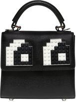 Les Petits Joueurs Micro Alex Eyes Leather Top Handle Bag