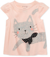 First Impressions Cat-Print Cotton T-Shirt, Baby Girls (0-24 months), Only at Macy's