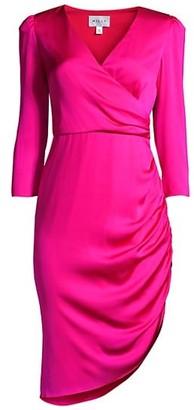 Milly Elanora Silk Faux Wrap Dress