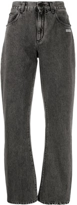 Off-White Wide Straight-Leg Jeans