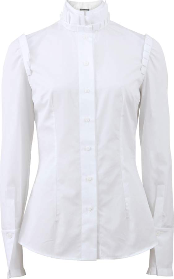 Alexander McQueen Box Pleat Poplin Blouse