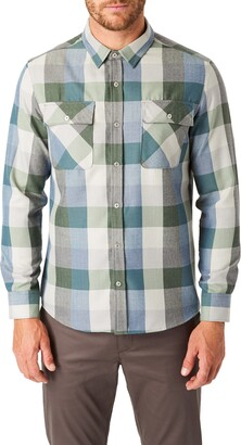 7 Diamonds Colt Trim Fit Check Button-Up Utility Shirt