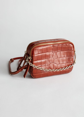 And other stories Croc O-Ring Chain Crossbody Bag