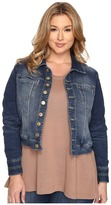 Jag Jeans Plus Size Savannah Jacket in Forever Blue Knit Denim