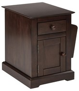 Office Star Colette Chair Side Table Walnut Finish