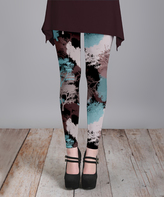 Lily Black Trees Leggings - Plus Too