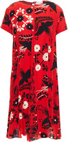 Thumbnail for your product : RED Valentino Printed Silk Crepe De Chine Mini Dress