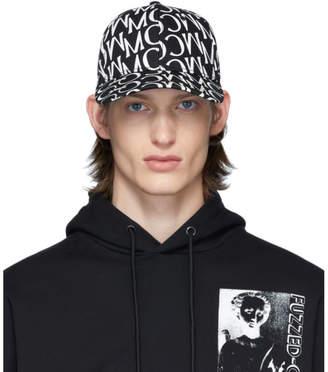 McQ Black and White Allover Print Cap