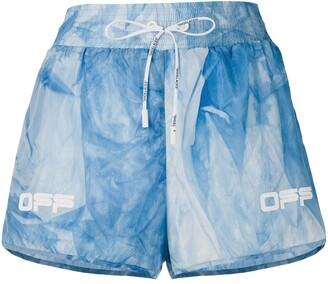 Off-White Tie-Dye Print Running Shorts