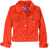 Dollhouse Girls' Faux-Leather Jacket