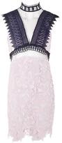 Topshop Funnel High Neck Lace Mini Dress