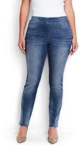 Classic Women's Plus Size Mid Rise Pull-on Skinny Jeans-Heritage Indigo Wash