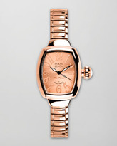 Glam Rock Miami Beach by Small Curved Expand Watch, Rose Gold
