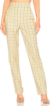 Tibi Marvel Plaid Suiting Pant