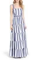 Eliza J Women's Stripe Tiered Maxi Sundress