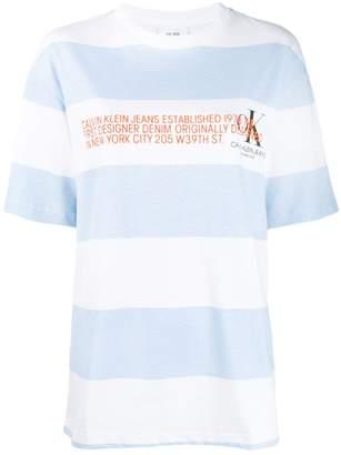 Calvin Klein Jeans Est. 1978 logo striped T-Shirt