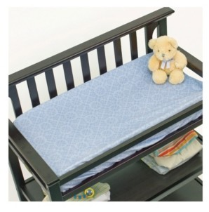 3 Stories Trading Nurture Blue Geo Changing Pad Cover