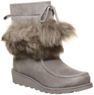 BearPaw Arden Suede & Genuine Sheepskin Faux Fur Short Boot