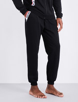 Moschino Tape-detailed cotton-jersey jogging bottoms