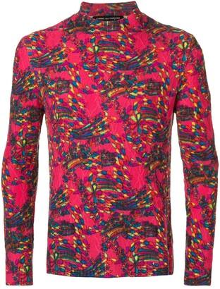 Comme des Garcons Pre-Owned high neck textured jumper